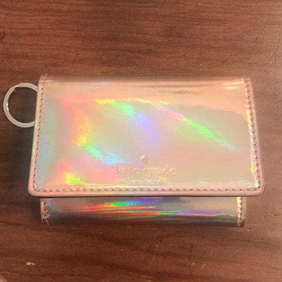 KATE SPADE Spencer Mini Keyring Wallet Metallic